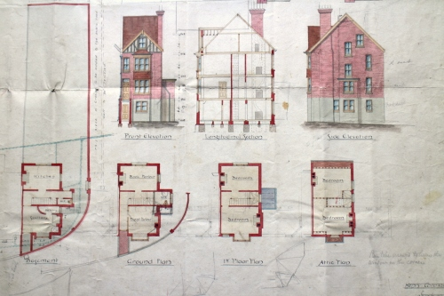 Plans of proposed house at 41 Grange Road
