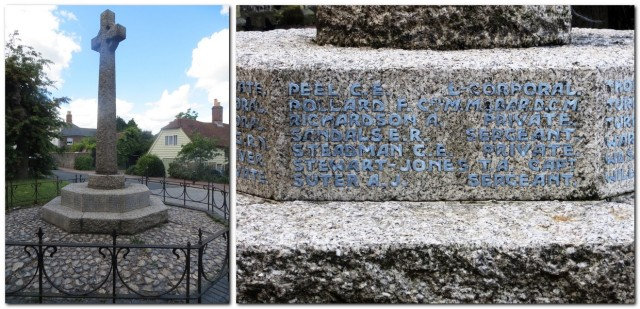 Southover Church war memorial and inscription