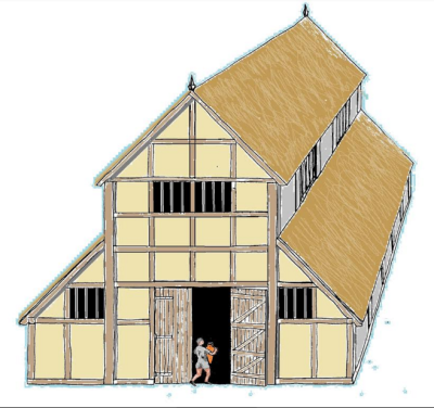 Aisled Roman building visualisation