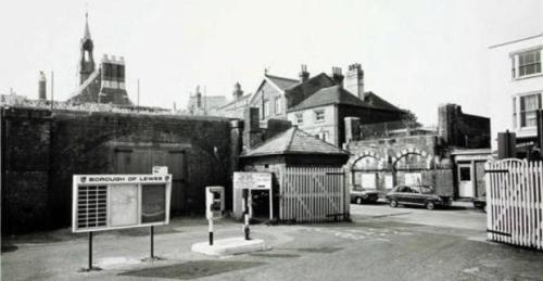 Lewes Uckfield railway bridge removed from High Street 1960s
