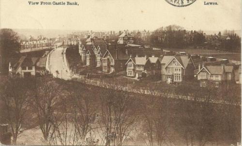 The Avenue, Lewes, 1914 Mezzotint postcard