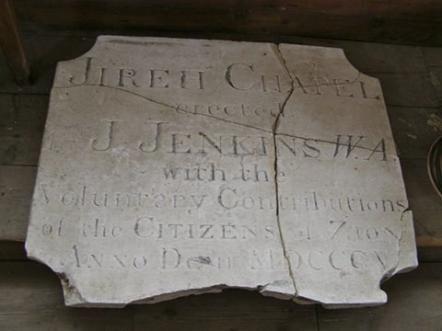 Jireh Temple Lewes foundation plaque