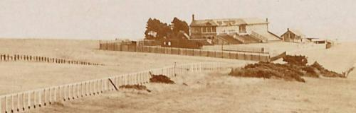 Lewes Racecourse, detail from postcard