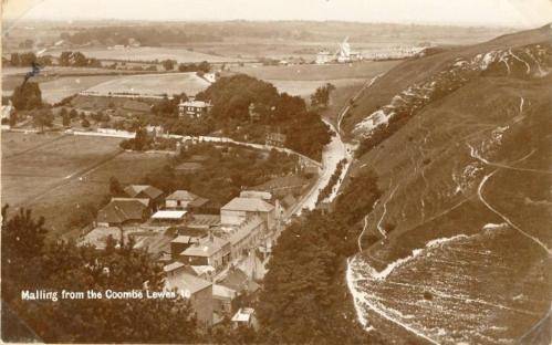 Malling from The Coombe, Lewes, postcard