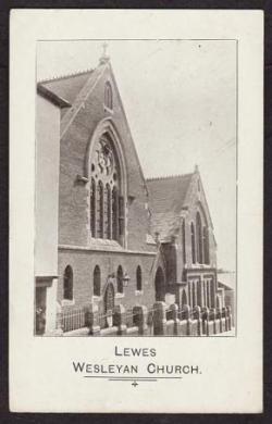 Lewes Wesleyan Church, postcard
