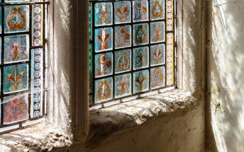 Carlotta Luke photo of window of Southover Grange, Lewes