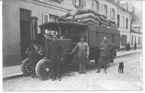 Military steam lorry