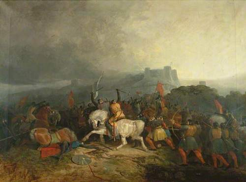 Battle of Lewes, painting attributed to T. Hardy