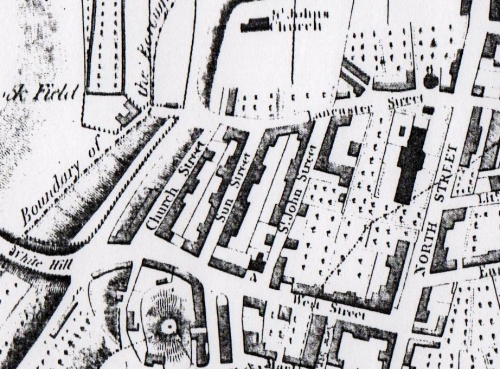 01 1824 map of new town in Lewes