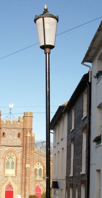 05 Cast iron street light, Abinger Place, Lewes