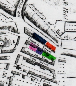 06 Map showing blocks sold, Lewes