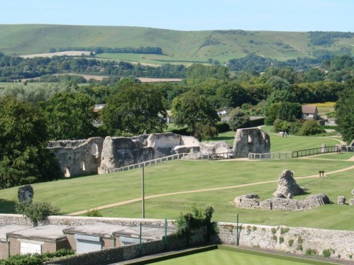 Lewes Priory from Mound, Helen Poole