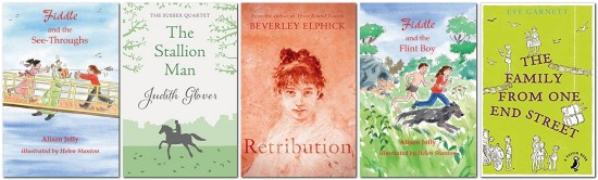 Fiction set in Lewes, book covers