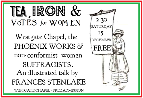 France Stenlake talk on Lewes suffragists - poster