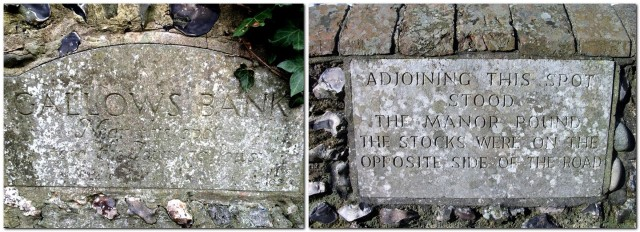 plaques marking lewes gallows and stocks