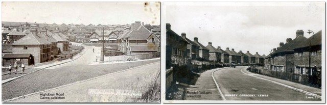 Highdown Road and Hamsey Crescent, Lewes