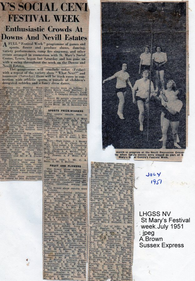 Lewes, Nevill 1951 St Mary's Festival week