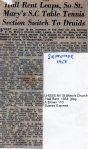 Lewes, Nevill 1958 September St Mary's Church Hall rent