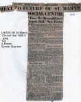 Lewes, Nevill 1958 St Mary Church Hall annual report 2