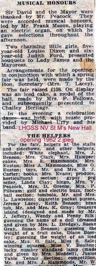 Lewes, Nevill 1962 St Mary's New Hall