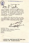 Lewes, Nevill 1966 October, Letter from MP Beamish