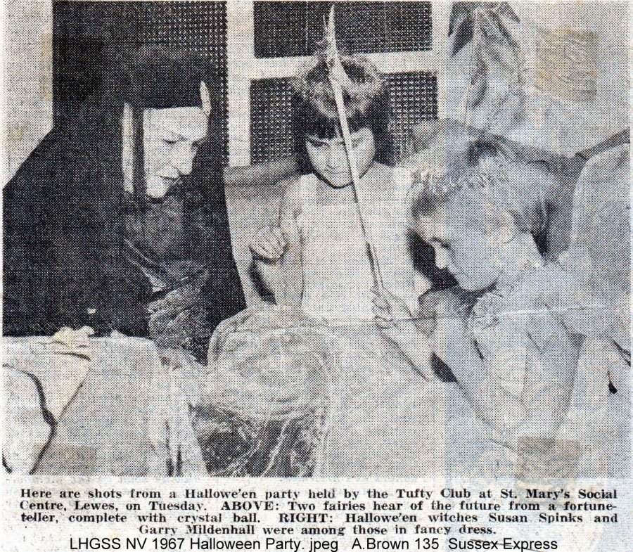 Lewes, Nevill 1967 Halloween Party