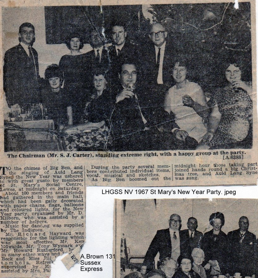 Lewes, Nevill 1967 St Mary's New Year Party