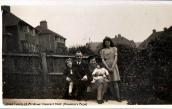 Lewes, Nevill, Ward Family 22 Windover Crescent 1942