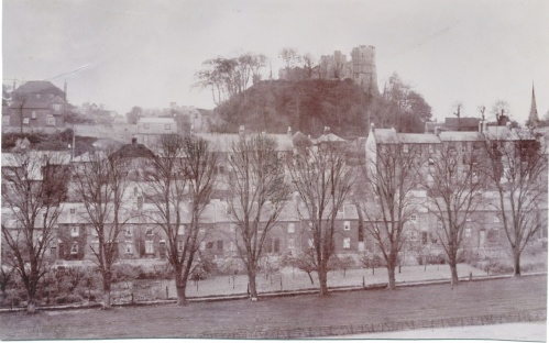 Paddock Road and Lewes Castle photo c. 1890
