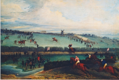 Thomas Henwood painting of Southdown Hunt Steeplechases, 1857