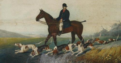Thomas Henwood print of George Bodle of Glyndebourne Harriers, 1840