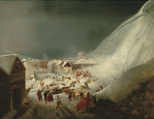 Avalanche at Lewes 1836 by Thomas Henwood