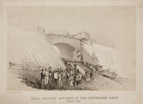 Fatal Railway Accident at the Newmarket Arch, June 6th 1851, by Thomas Henwood
