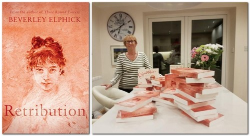 Beverley Elphick with her book 'Retribution'