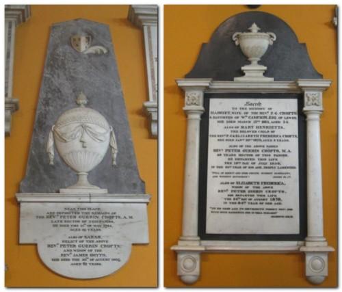 Peter Guerin Crofts - elder and younger, memorials