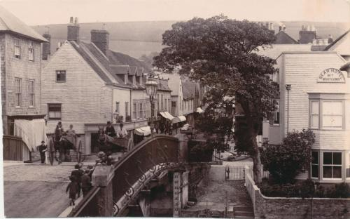 Photo of Cliffe Bridge, Cliffe High Street, Bear Hotel, Lewes, 1888