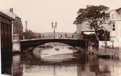 Photo of Cliffe Bridge, Lewes, 1888