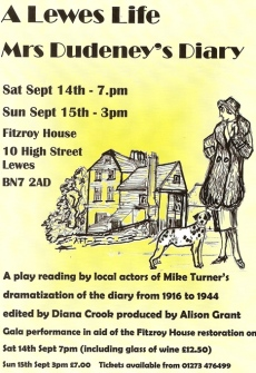 Mrs Dudeney's Diary at Fitzroy House