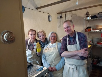 Regency Town House kitchen volunteers