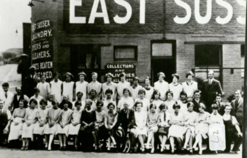 Lewes Steam Laundry staff