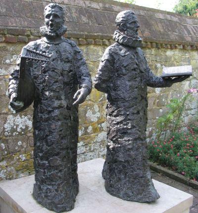 Madrigal Singers sculpture, Grange Gardens, Lewes