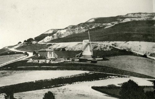 Malling Windmill and Mill House from The Wallands, c. 1858-1868