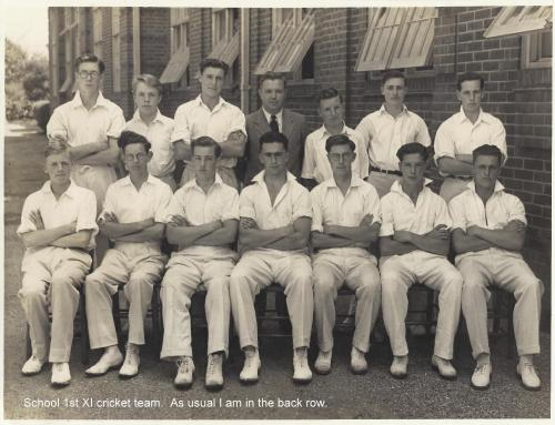 School 1st XI cricket team