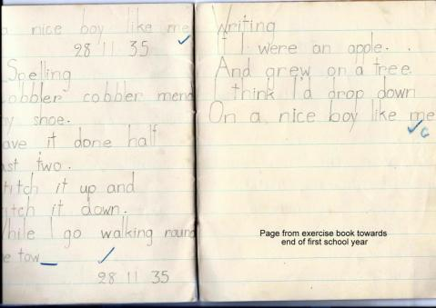 St Anne's School Exercise book