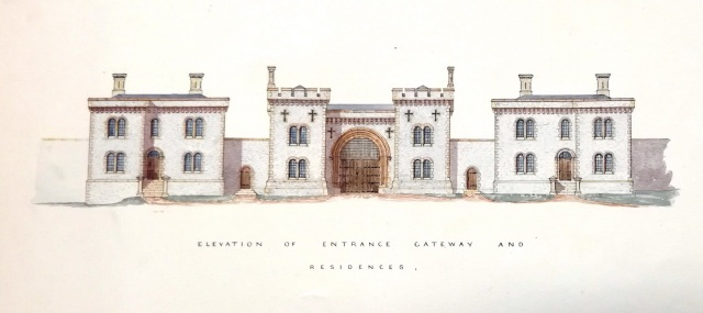 Elevation of Proposed Lewes Prison, 1848, ESRO