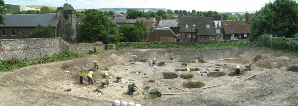 Lewes House excavation