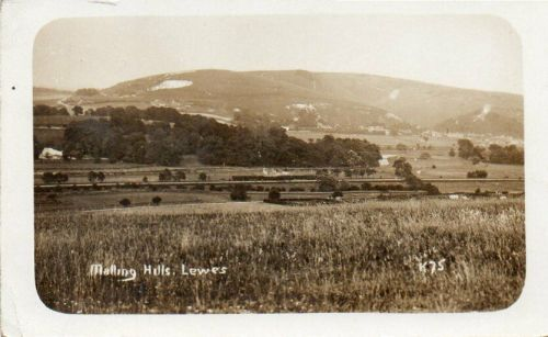 Malling Down, Lewes from Landport, postcard postmarked 1913