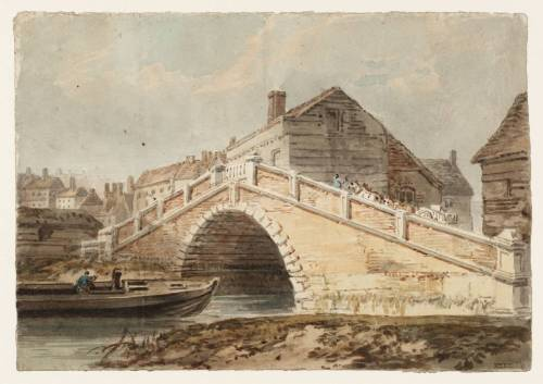 A Bridge at Lewes, Sussex by JMW Turner ~1896