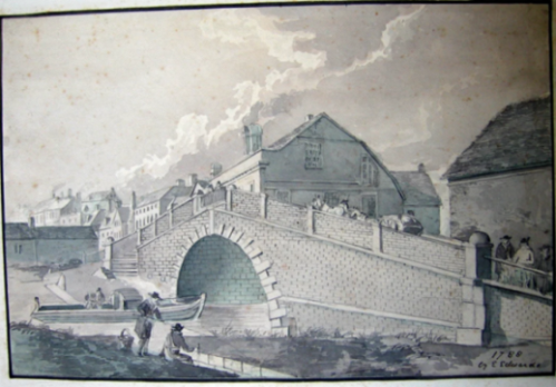 Lewes Bridge Sussex 1791, possibly by E.E.