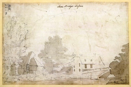 Lewes Bridge Sussex, possibly by Michael Rooker 1790